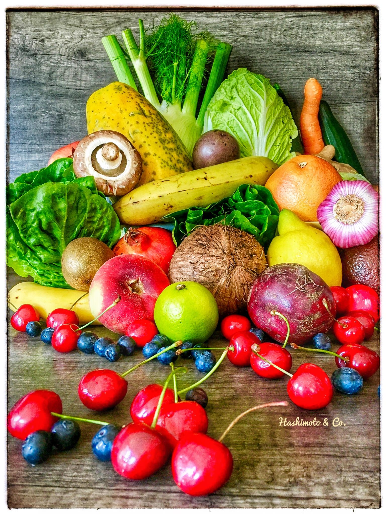Unverarbeitete Lebensmittel wie Obst und vor allem Gemüse, aus ökologischem Anbau, bilden die Grundlage für das Autoimmunprotokoll. Nährstoffreich & gesund.