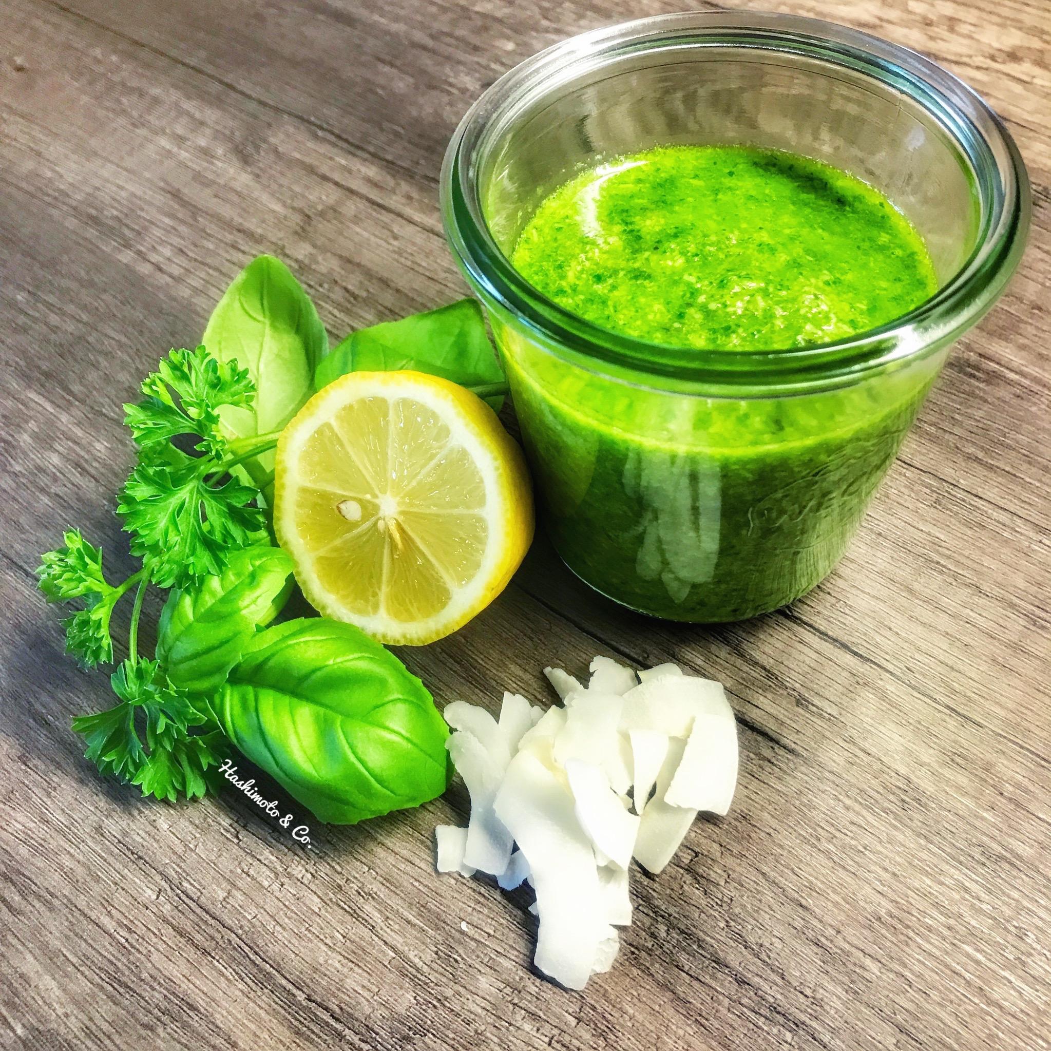 Einige Zutaten für unser grünes Pesto.