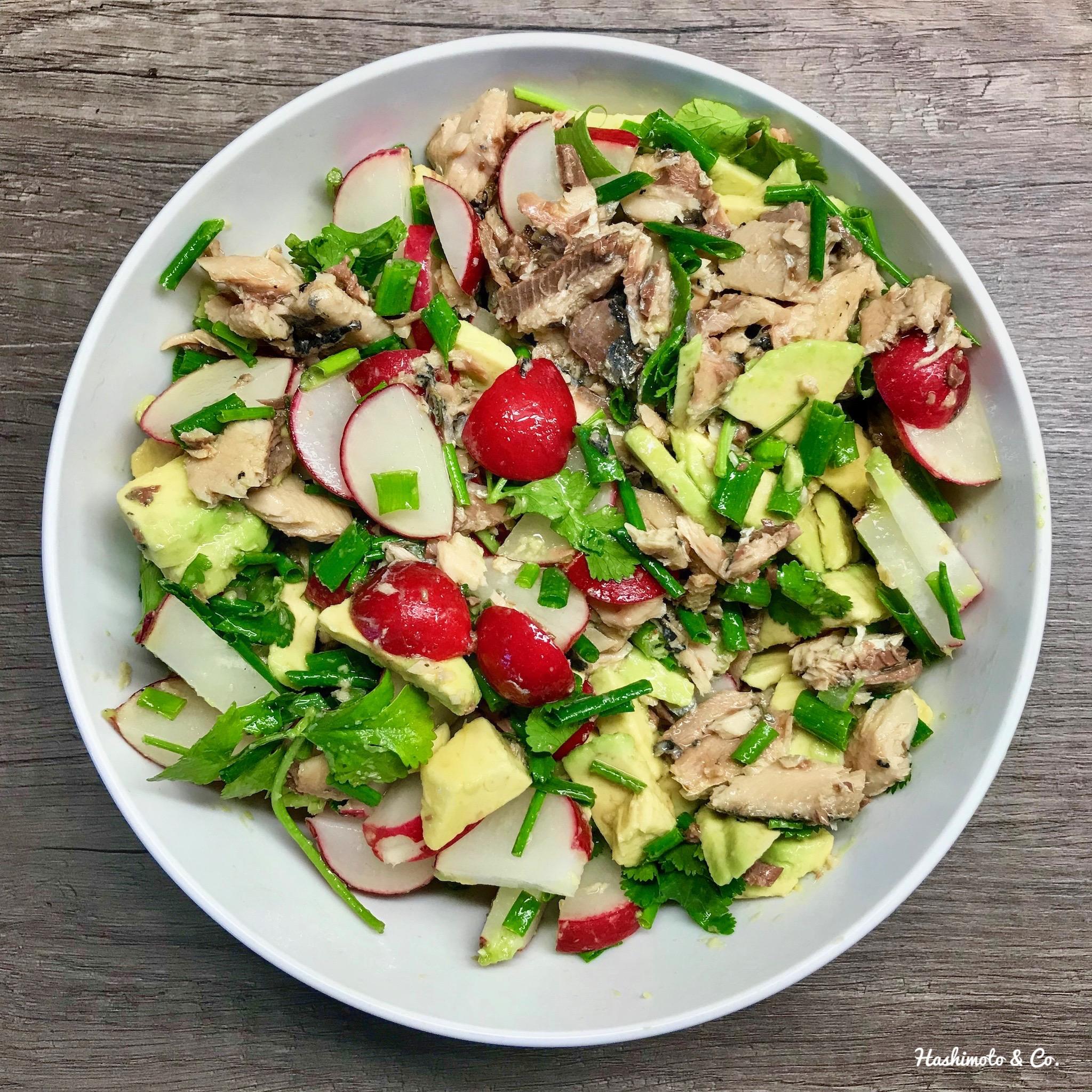 AIP Rezepte Radieschen-Sardinen-Salat (AIP / PALEO)