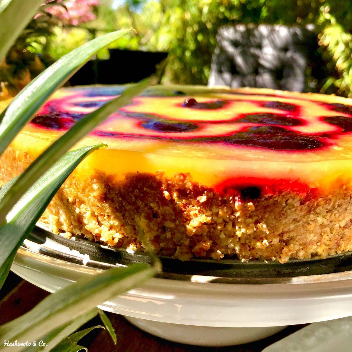 Sommerliche Ananas-Limetten-Tarte (AIP / Paleo / Kokosfrei)