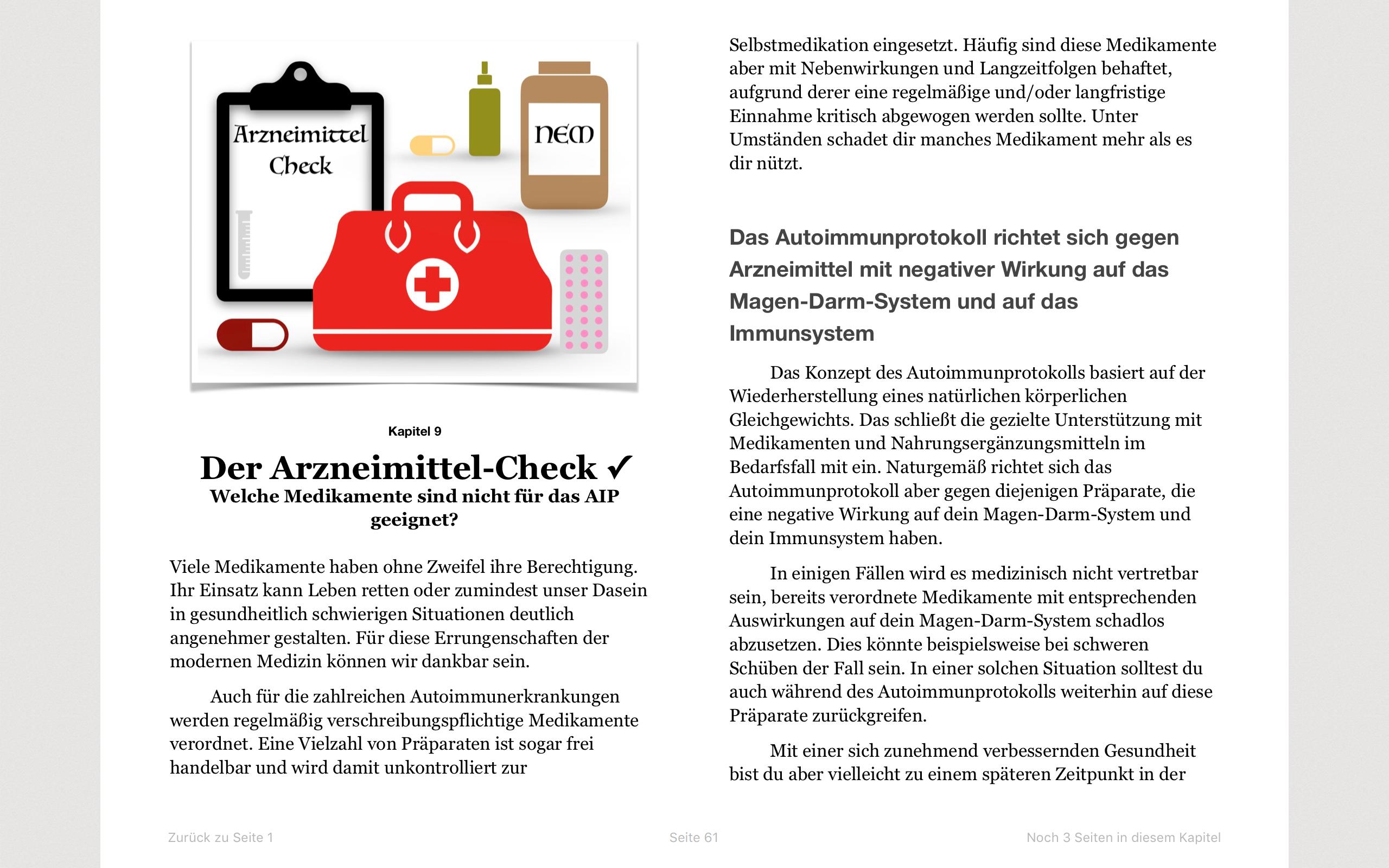 Autoimmunprotokoll Praxishandbuch Band 1 Screenshot