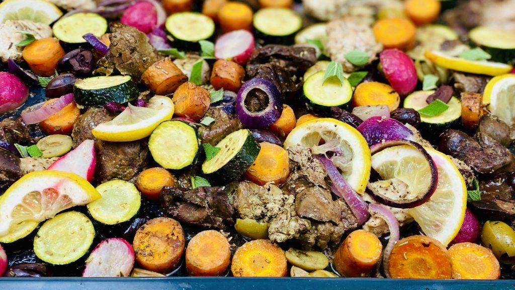 Rezept für Mediterranes vom Blech (Paleo, AIP, Low Carb)