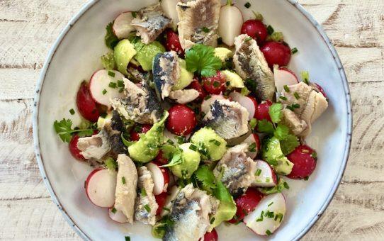 Radieschen-Sardinen Salat